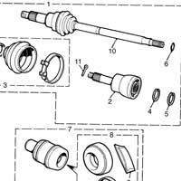 37h8706 Mini Driveshaft Thin Circlip