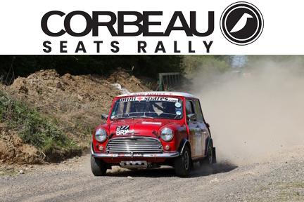mini in dust at corbeau seats rally