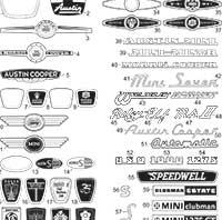 Avb192 Mini Mini Cooper Mk2 Ii Badge Rear