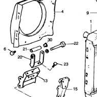 12A361 - Mini engine lower radiator bracket